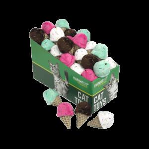 Ice Cream Cone Cat Toys, 25 Piece PDQ
