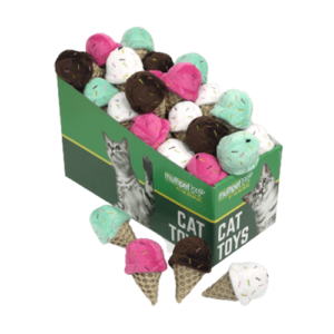 Ice Cream Cone Cat Toys, 25 Piece PDQ