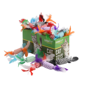 Candy Crackle with Feathers Cat Toys, 30pc. PDQ