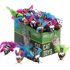Safari Feather Mice Cat Toys, 25 Piece PDQ